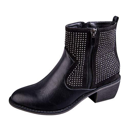 Minikimi Enkellaarzen met hak van Ankle Boots Retro Chelsea korte laarzen met gespen winterlaarzen met blokhak vrijetijdsschoenen over maat