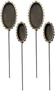 Spellbinders MB3-002 Media Mixage Oval Hatpin Bezel for Scrapbooking, Bronze