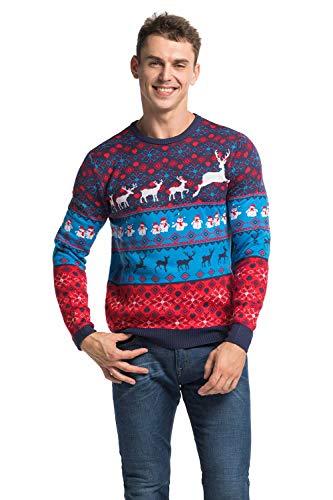 U LOOK UGLY TODAY Męskie swetry świąteczne sweter