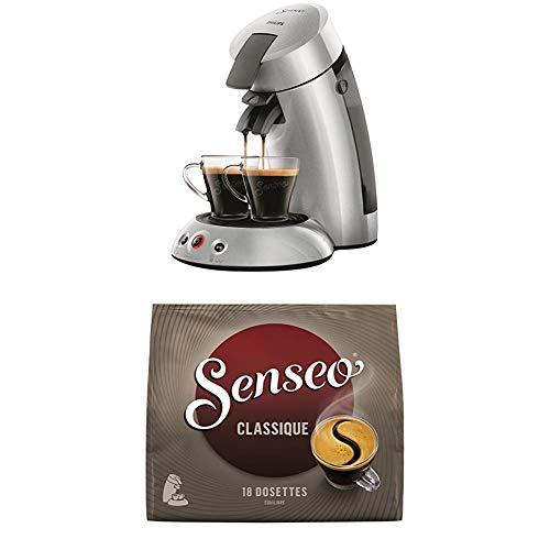 Philips HD6556/51 Machine à Café à Dosettes Senseo Original 2.5+ Argent 0, 75 Litre + Senseo café classique