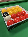 Red and Yellow 2' Pool Ball Set (1 7/8 Inch Cue Ball)