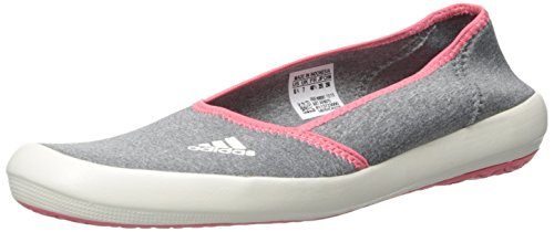 adidas outdoor Women's Boat Slip-On Sleek-W, Med Grey Heather/Chalk White/Super Blush, 11 M US