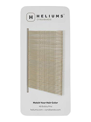 Heliums Ash Light Blonde Premium Strong Hold Sturdy Bobby Pins, 2 Inch Wavy - 48 Count