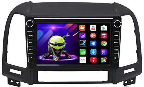 Car Stereo Android Doppio DIN per Hyundai Santa Fe 2006-2012 Navigazione GPS unità Principale da 9 Pollici Touchscreen MP5 Lettore Multimediale Ricevitore Video Radio con WiFi
