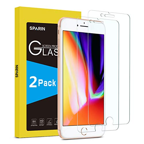 SPARIN [2-Pack Protector Pantalla iPhone 8/7/6s