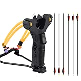YuXing Professional Fishing/Hunting Slingshot Include 6 Arrows (Alloy Arrow Sith Mixed Carbon Shaft)