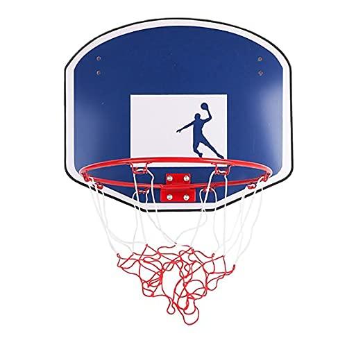 RHSMW Canasta De Baloncesto De Pared, Aro De Baloncesto para Adultos Portátiles para El Hogar, Adecuado para Juguetes Deportivos Al Aire Libre para Niños Y Exteriores,Azul
