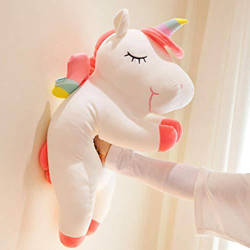 Recordever Nettes Einhorn Plüschtier Pony Puppe Kissen Puppe-weiß_60cm