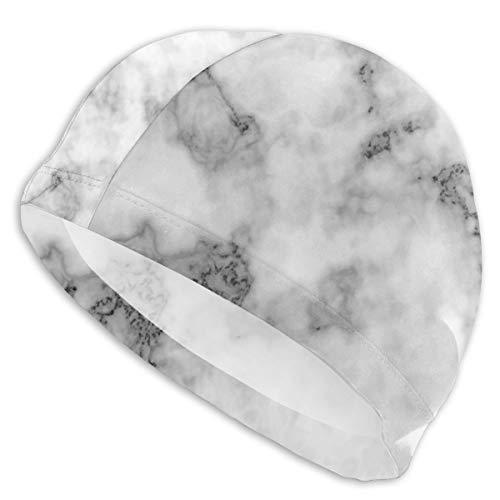 Zhgrong Gorro de natación Sombrero Fondo de mármol Realista Textura de mármol de Piedra Gorro de baño/Gorro de Ducha |Diseñado para Cabello Largo