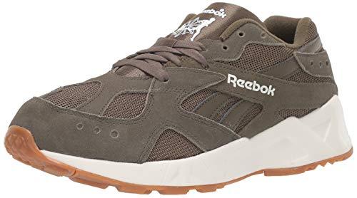 Reebok AZTREK 93 Sneaker, Army Green/Chalk, 7.5 M US
