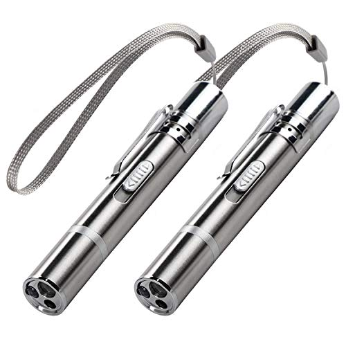 Inscape Data Interactive Cat Wand Toys,Cat Toys for Indoor Cats,Stainless Steel(2 Pack)