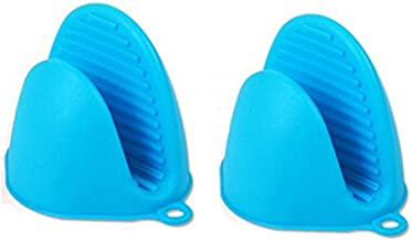 Syga Set of 2 Silicone Pinch Grip Mitten Oven Mitt Gripper Grip Kitchen Potholder Utensil Tool(Blue)