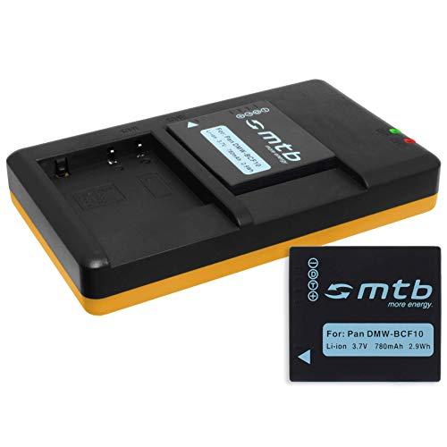 2 Baterías + Cargador Doble (USB) para DMW-BCF10(E), CGA-S106 / Panasonic Lumix...