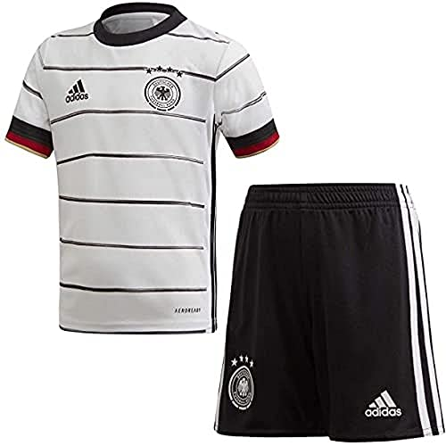 Adidas Kinder DFB H MINI Football Set, top:white/Black bottom:black, 4-5 Jahre (110)