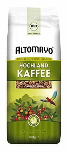 Bio Hochland Kaffee, ganze Bohnen Altomayo (1 x 500 g)