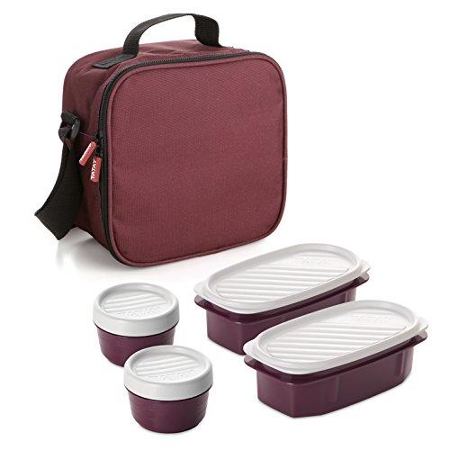 TATAY Urban Food - Thermische Lebensmitteltasche mit hermetischem Inhalt, Farbe bordeaux