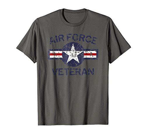 Air Force Veteran with Vintage Roundel Grunge T-Shirt
