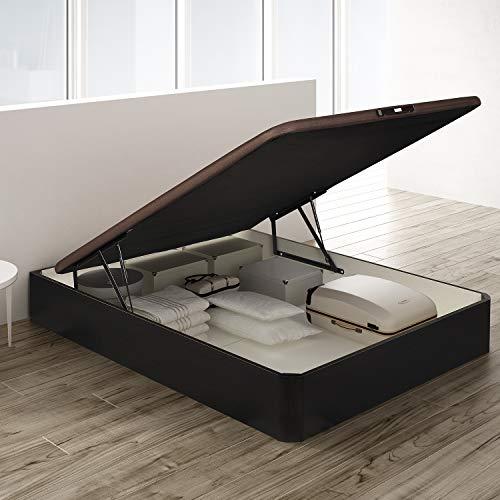 PIKOLIN, canapé abatible de almacenaje Color wengué 150x190, Servicio de Entrega Premium Incluido