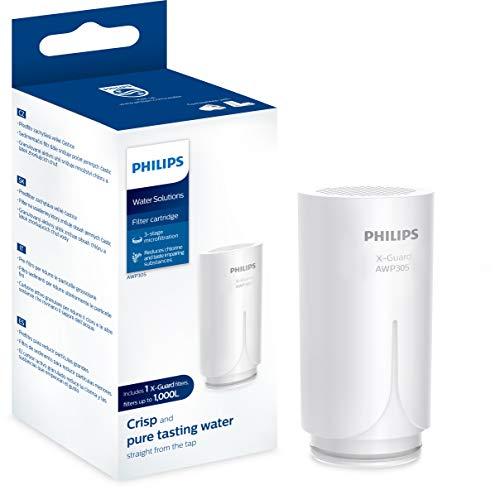 Philips AWP305 X-Guard Ersatz-Kartusche für Philips On Tap Wasser-Filter AWP3703 & AWP3704, Filter-Kartusche für Wasserhahn-Filter