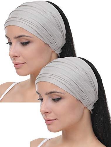 Deresina Elastisches dehnbares Stirnband, Haarband für Haarausfall (Taupe)