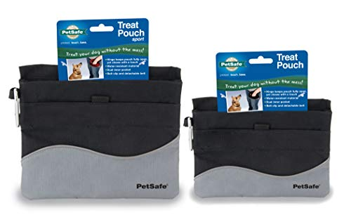 PetSafe Treat Pouch Sport- Durable, Convenient Dog Training Accessory, Standard, Black