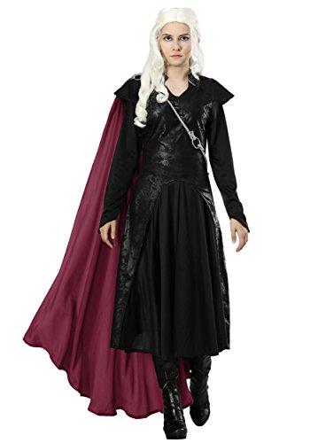 Women?s Dragon Warrior Costume Dragon Queen Costume X-Small Black