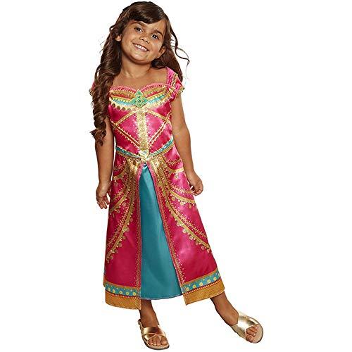 GAOAO Lámpara mágica de película de acción en Vivo Aladdin, Vestido de Princesa jazmín púrpura para niños, Disfraz de actuación