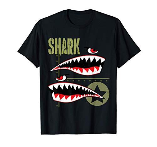 Wild Aviation Pilot Shark Plane T-Shirts & Cool Designs Camiseta