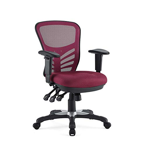 Modway Articulate Ergonomic Mesh Office Chair in Red