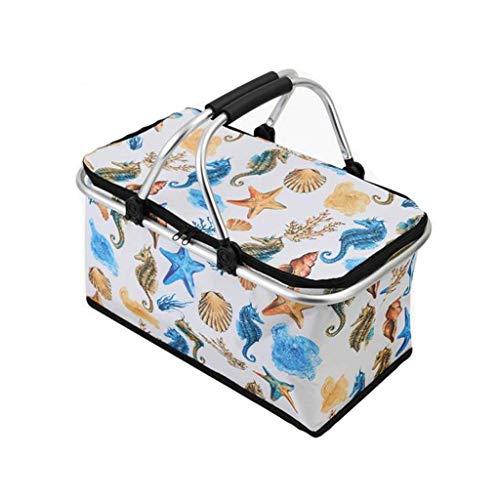 LF- 30L impermeable for llevar la caja del aislamiento de entrega de alimentos frescos del coche de caja refrigerada de mantenimiento de la bolsa de hielo portátil Puesto plegable cesta de picnic Prot