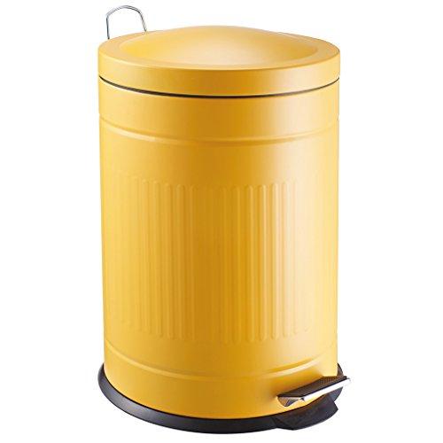 Laroom Cubo, Acero Inoxidable PP Bucket, Amarillo