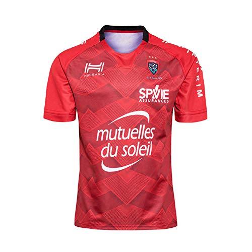 JUNBABY 2020 Toulon Camiseta De Rugby De Francia, Cancha De Casa Camiseta De FúTbol para Hombre