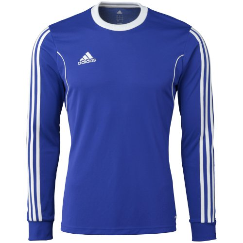 Adidas Squadra 13 Mens Long Sleeve Jersey S Bold Blue-White