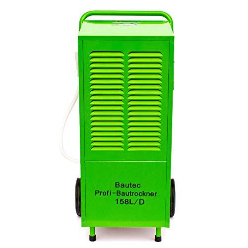 BAUTEC Bouwdroger 158 liter per dag/ontvochtiger voor ruimtes tot 300 m²/luchtontvochtiger 1800 watt/kamerdroger