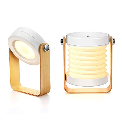 Bromose - Lámpara de mesilla de noche regulable táctil, luz nocturna para bebé, portátil,...