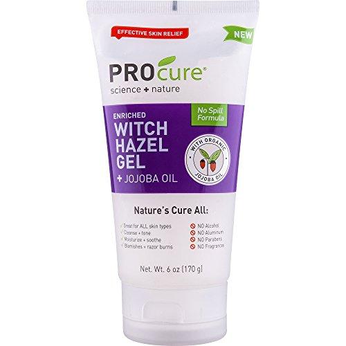 ProCure Witch Hazel Gel + Organic Jojoba Oil, 6 Ounce Tube, Nature's Helper, No Spill Formula is...