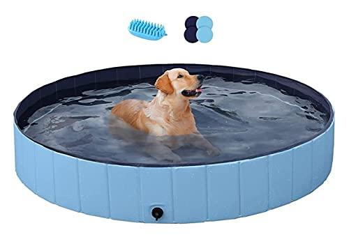 Yaheeetch pvc opvouwbaar huisdier hond peddelen zwembad puppy zwembad 160 x 30 cm hond zwembad hond douche badkuip hond bad water vijver ideaal voor huisdieren (Color : 1, Size : XXL)
