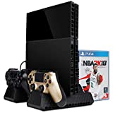 Zacro PS4 Slim/ PS4 pro/ PS4 Vertical Stand Cooling Fan, Dual...