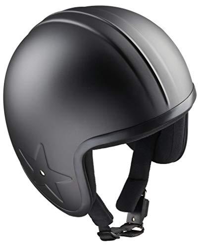 Band-It Motorradhelm Schwarz Sky 3 Jet Stern Bandit Open Face Helm Custom nicht zugelassen (L)