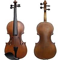 バイオリン5点セット/本体・弓・セミハードケース・駒・松脂の5点セット/全長60cm 4/4サイズ/子供から大人まで使える/10000セット以上の販売実績商品! vaiorin ヴァイオリン ばいおりん 大人用 初心者用 入門用 フルセット (4/4)