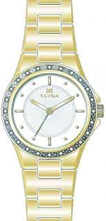 Clyda - CLA0615PAIX - Montre Femme - Quartz Analogique - Cadran Blanc - Bracelet Métal Doré