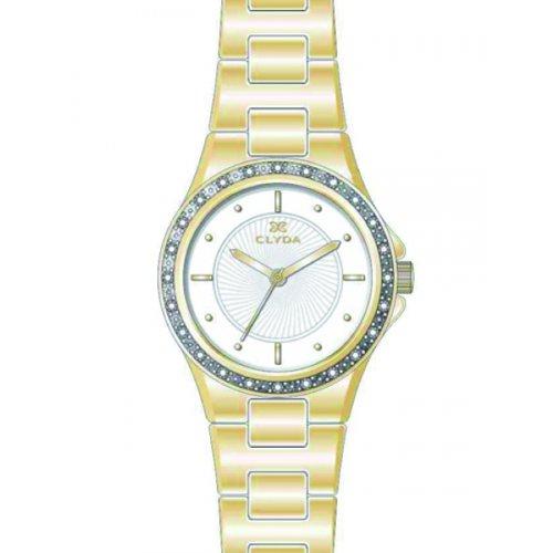 Clyda CLA0615PAIX - Reloj de Pulsera Mujer, Metal, Color Dor