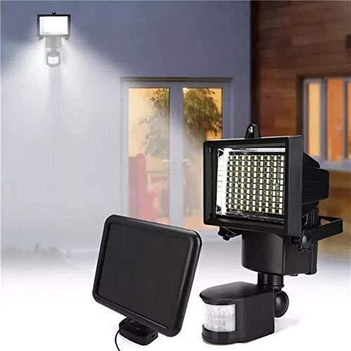 RONGW JKUNYU La iluminación Exterior de 100 LED PIR del Sensor con energía Solar la luz de inundación al Aire Libre de la lámpara de Pared del jardín Seguridad
