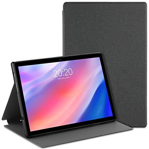 EasyAcc Custodia Cover Compatibile con Tablet TECLAST P20 P20HD TECLAST M40 10.1, Ultra Sottile con Funzione di Supporto Custodia Protettiva in Pelle PU, Grigio
