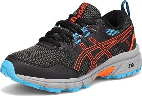 ASICS Kid's Gel-Venture 8 GS Running Shoes, 7, Black/Marigold Orange
