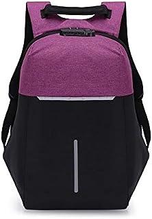 SHENAISHIREN Mochila Antirrobo de Portátil,17.7Pulgadas Mochila Ordenador Portatil Resistente al Agua-con el Puerto de Carga USB,para Hombre Mujer Oficina Trabajo Diario Negocio (Color : Purple)