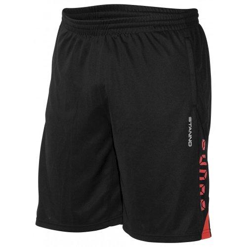 Stanno Pro Training Short (ohne Innenslip) Schwarz-Rot, S