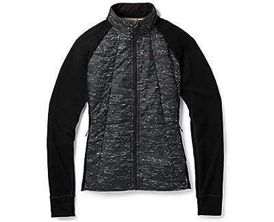 Smartwool Women's Smartloft 60 Jacket - Merino Wool Water and Wind Resistant Performance Outerwear Black-Light Gray - Past Season Small from Smartwool