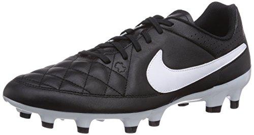 Nike Tiempo Genio Leather FG, Herren Fußballschuhe, Schwarz (Black/White), 36.5 EU