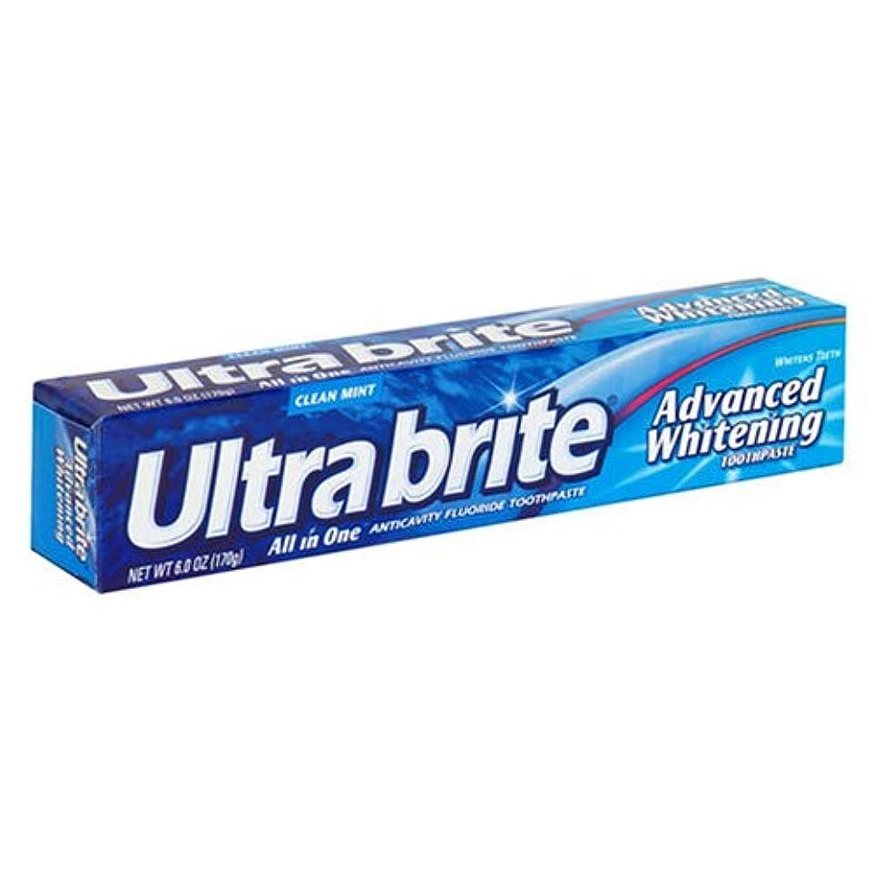 ジャンク差別五月海外直送肘 Colgate Ultra Brite Advanced Whitening Fluoride Toothpaste, 6 oz